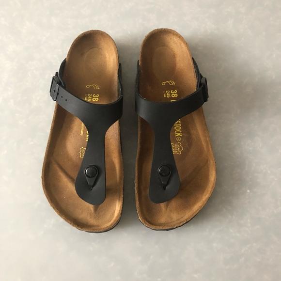 10349c0de98 Birkenstock Shoes - Birkenstock Gizeh Sandal in Black size 38